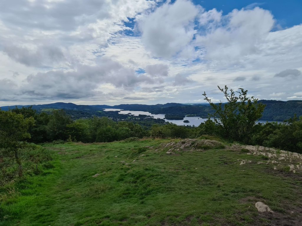 View over lake Windermere from the summit of Orrest Head