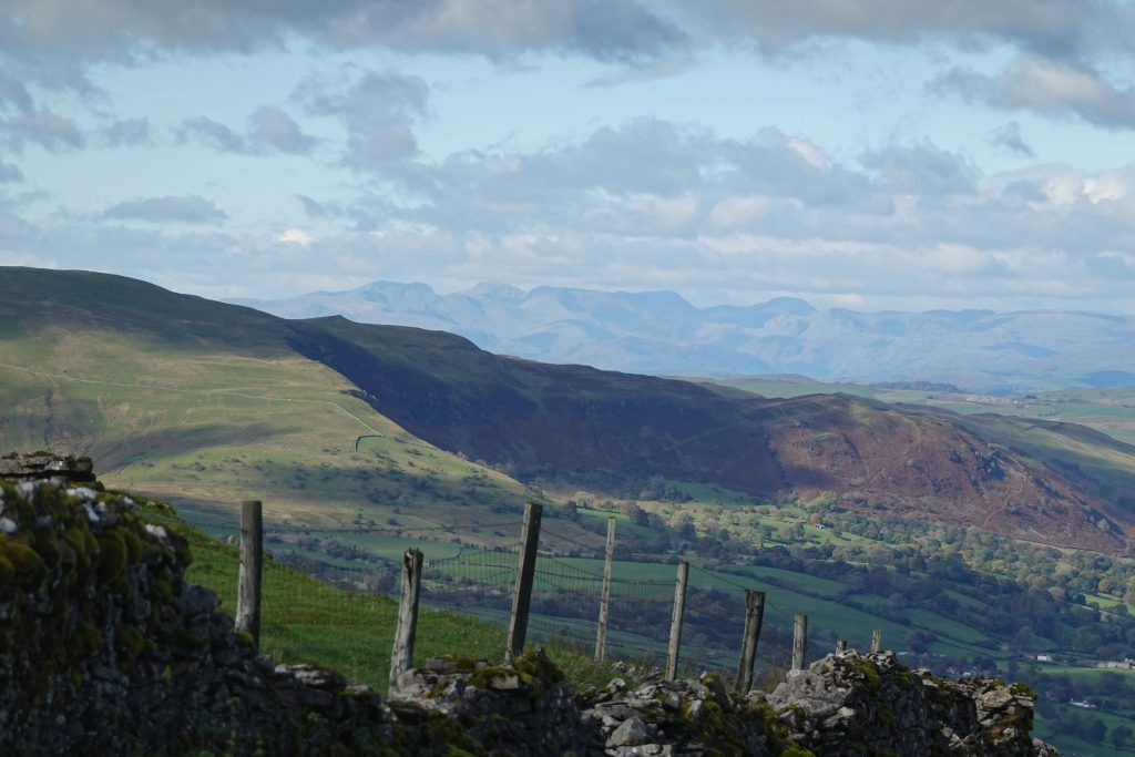 First sight of the Lake District from the Yorkshire Dales on the Walk Home 2020 route
