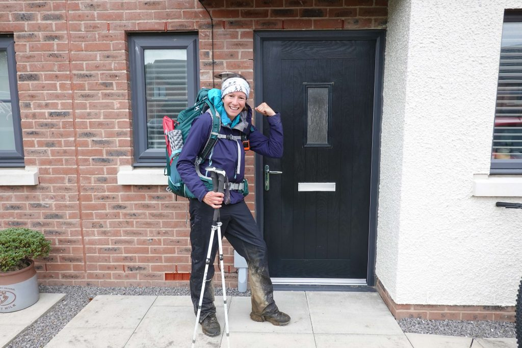 Adventurer Nic on Day 15 after reaching home in Cockermouth