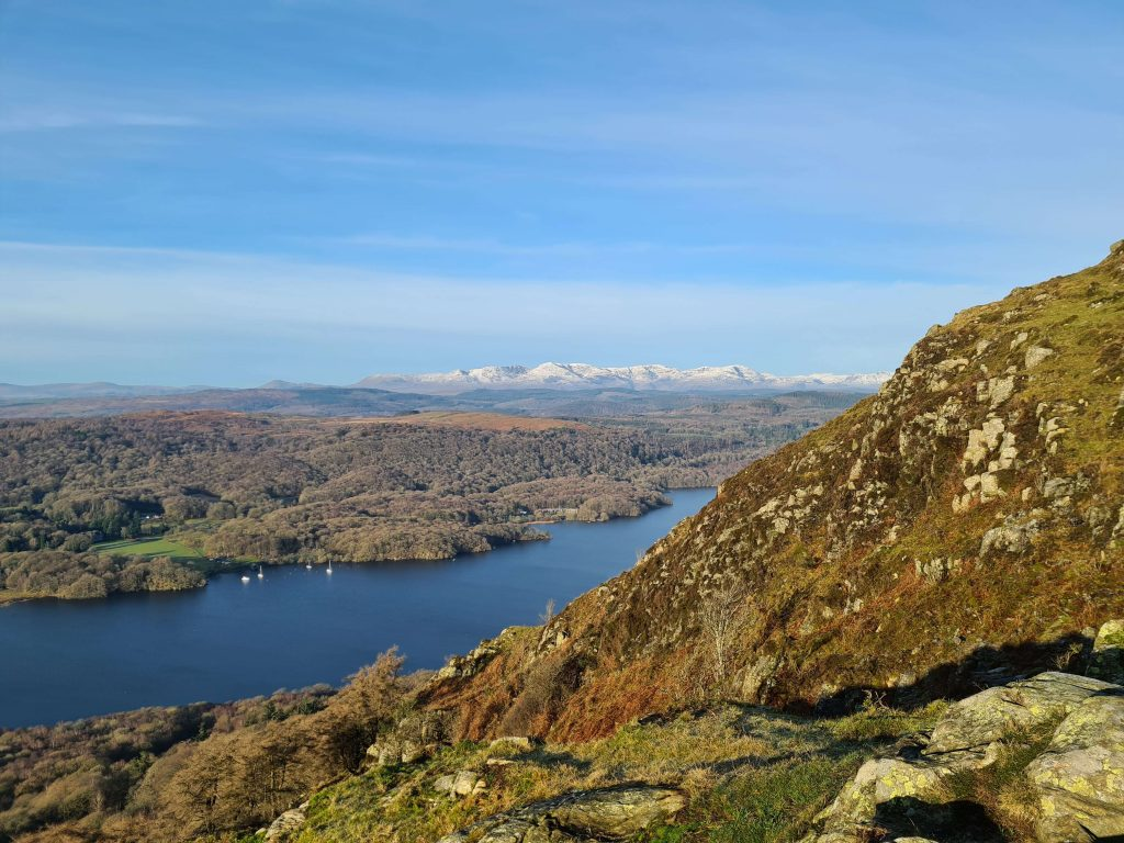 Windermere at it's finest with the Coniston Fells in the distance