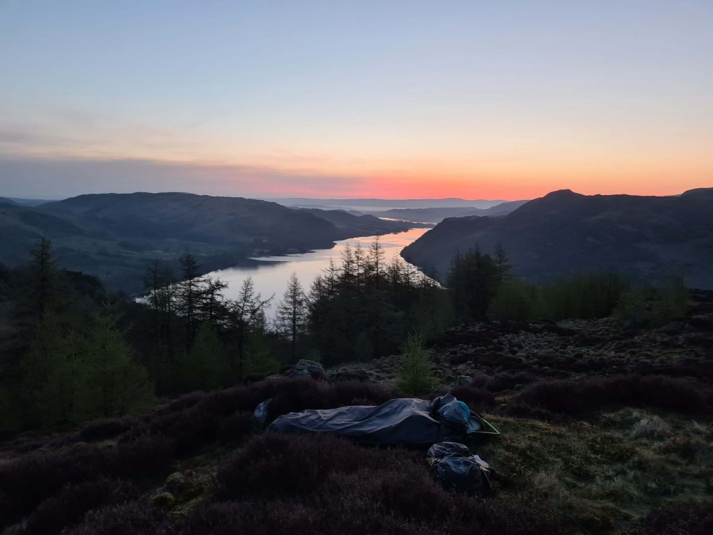 A bivvy wild camp on the Eastern Fells Walking The Wainwrights route