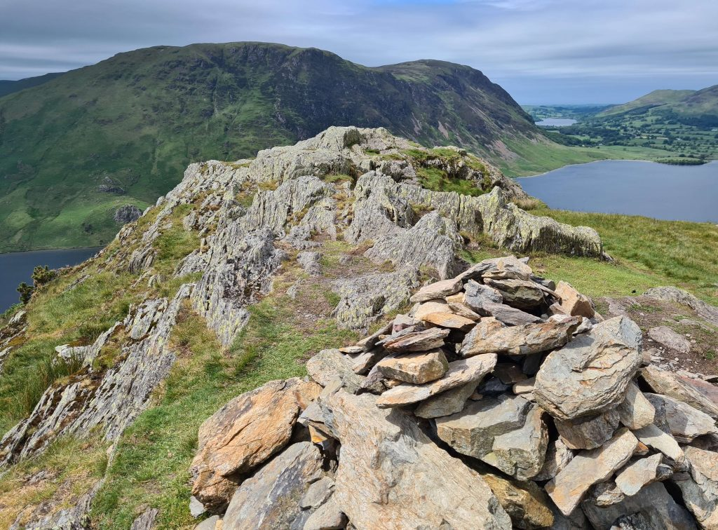 The summit of Rannerdale Knotts on the North Western Walking The Wainwrights route